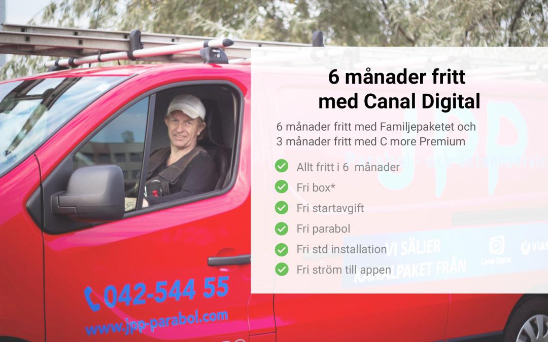 6 månader fritt med Canal Digital